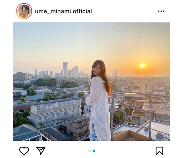 乃木坂46 梅澤美波、朝陽を背景に微笑むポートレート公開