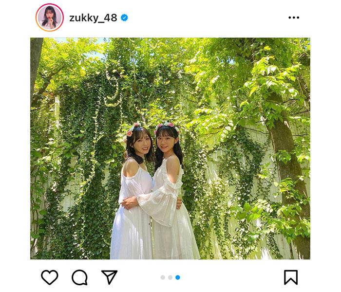 AKB48 山内瑞葵、まるで天使な小栗有以との2ショットに歓喜の声!