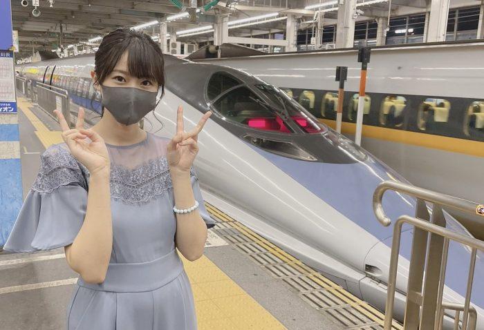 【鉄道の日】STU48 瀧野由美子、『イチオシ』500系とのお揃コーデ披露