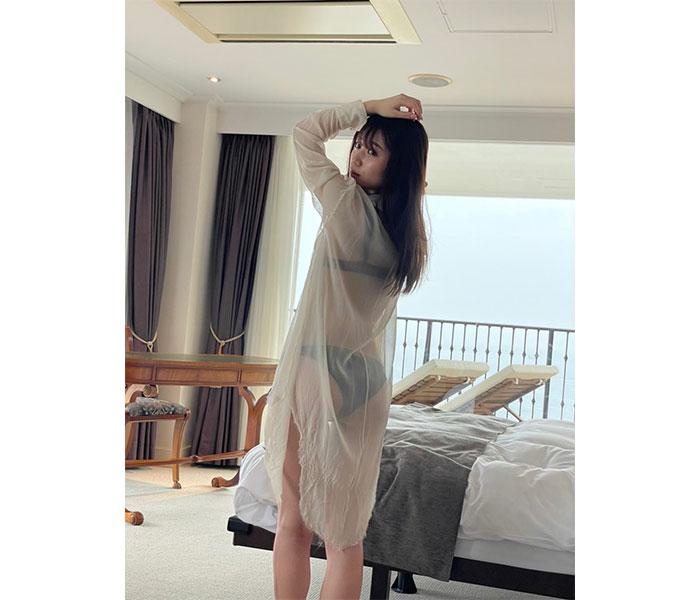 SUPER☆GiRLS 坂林佳奈、シースルーシャツから透ける黒ビキニ姿で釘付け