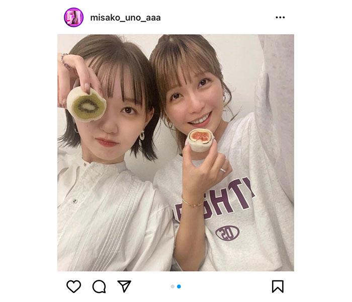 AAA 宇野実彩子、江野沢愛美との姉妹2ショットに歓喜の声