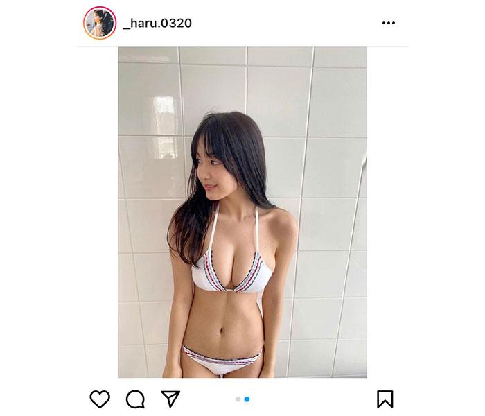 吉澤遥奈の完璧美ボディに見惚れる水着オフショットに釘付け!!